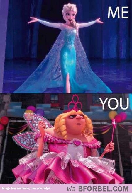 Dressing Up: Me Vs. You. It is probably the other way around, though. I am certain I look more like Gru. <3