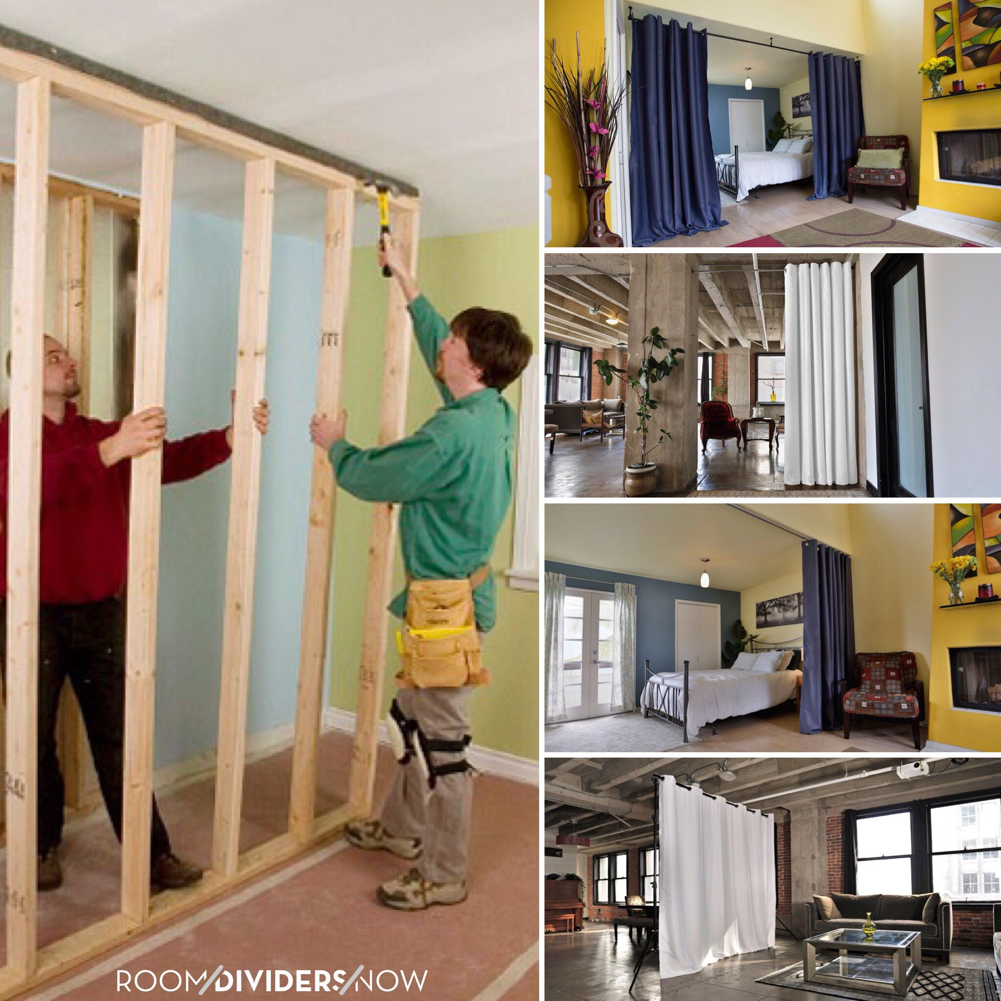 Easy To Set Up Room Divider Kit Or Expensive Temporary Wall