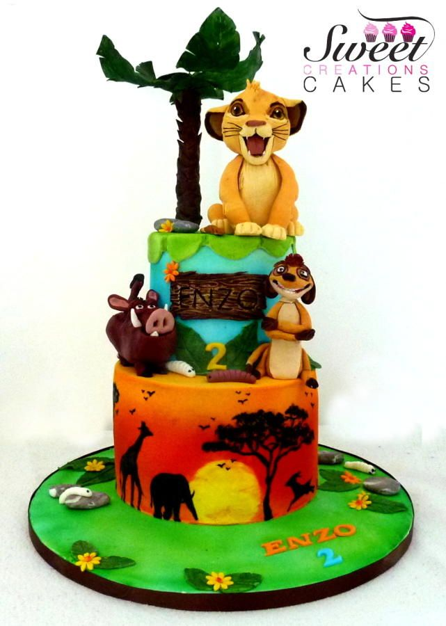 Lion King themed Cake Cake by Sweet Creations Cakes Cakes Cake