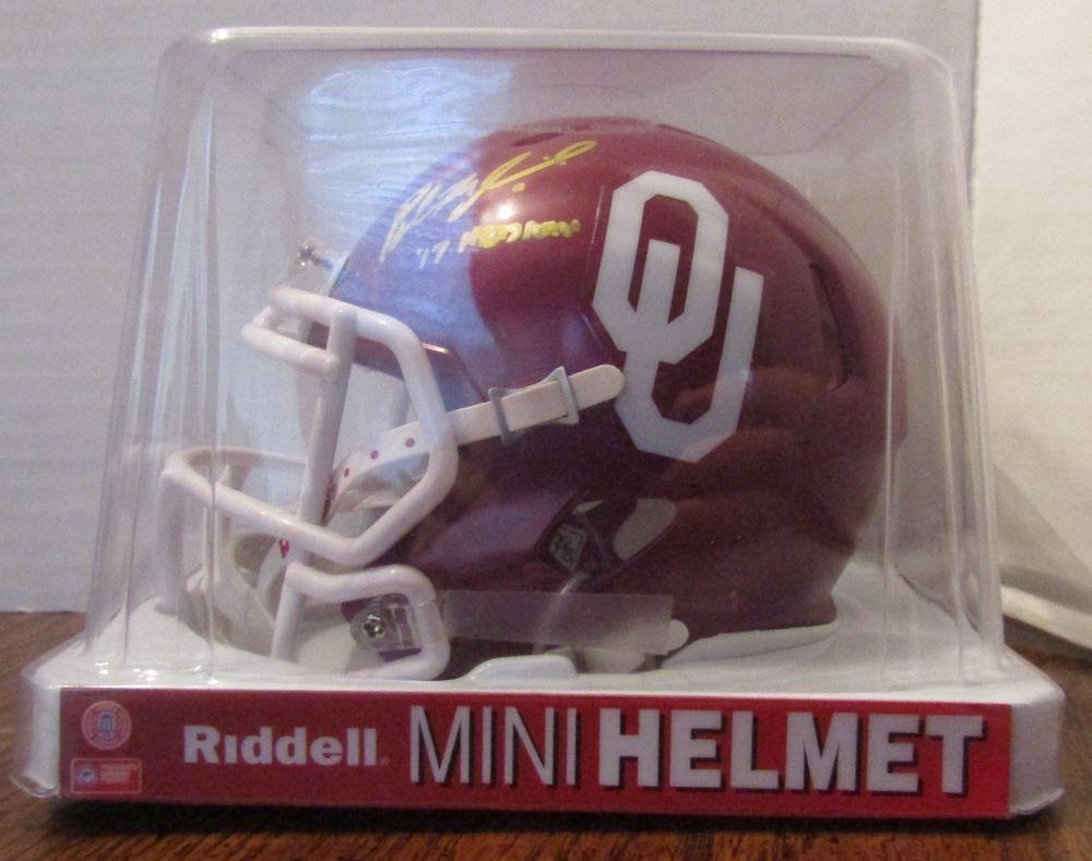 Baker Mayfield Autographed Signed OU Sooners Maroon Mini Helmet COA ... 5a2fd6add