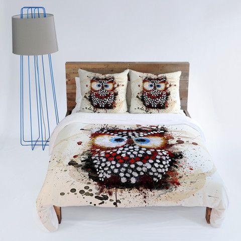 owl girls bedding listing decor cover il shabby toddler little duvet chic twin pink room kids