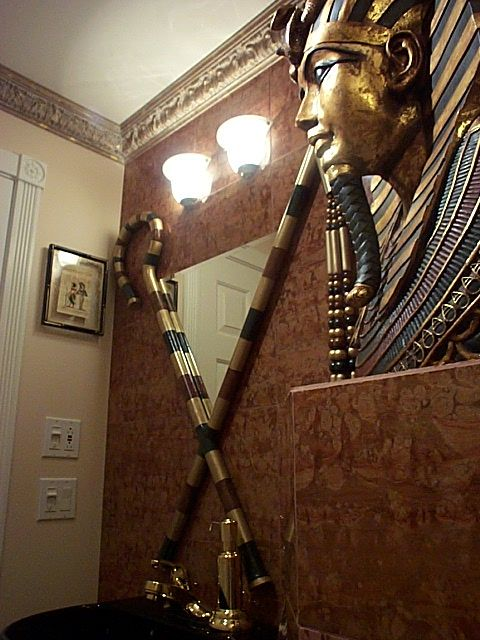 Egyptian 1 2 Bathroom Egyptian Inspired Decor In 2019 Egyptian