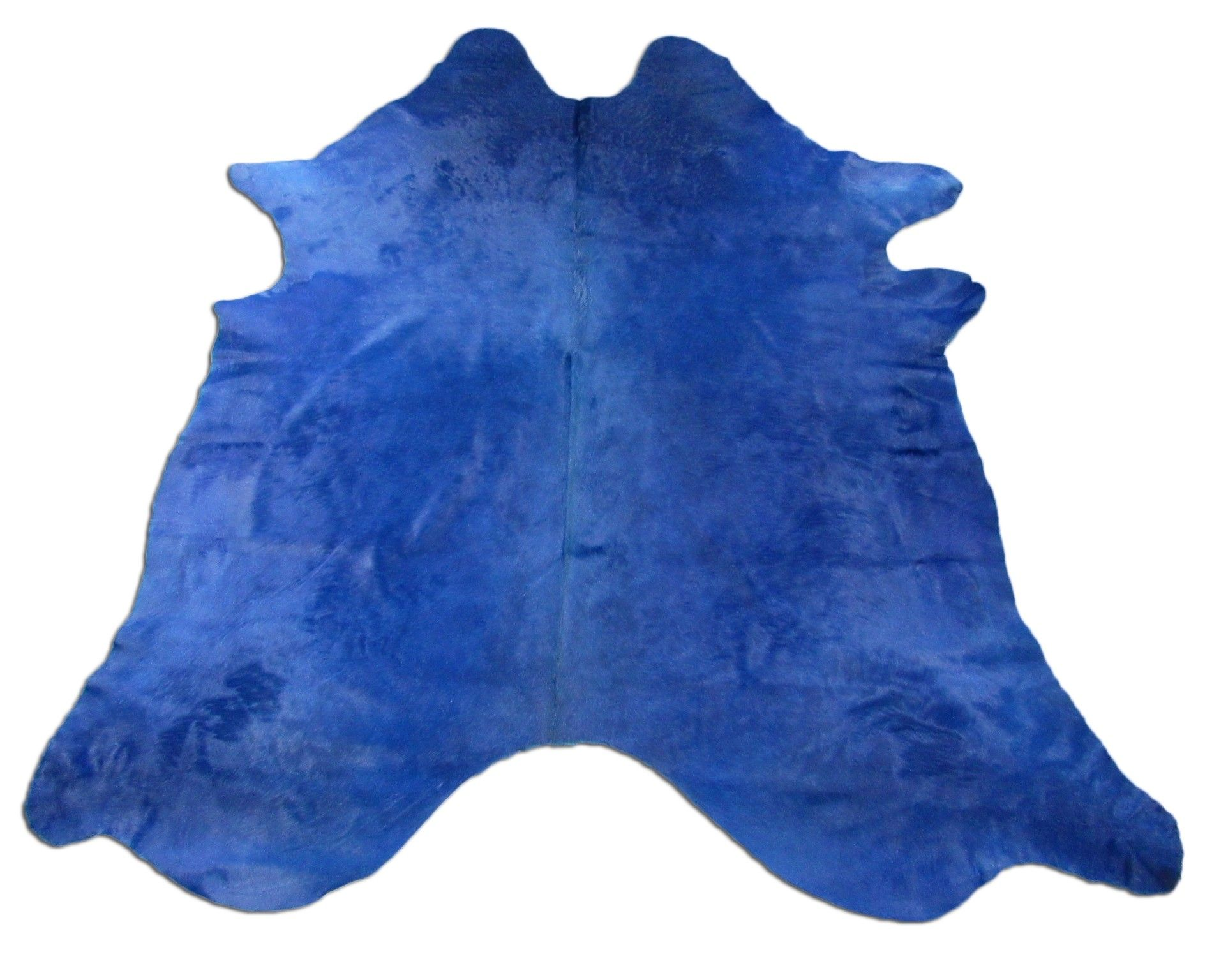 Dyed Royal Blue Cowhide Rug Size 8 X 7 Huge Blue Dyed Cow