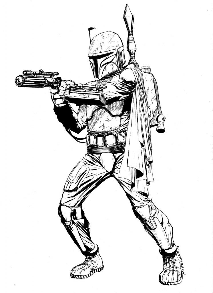 Boba Fett Coloring Pages Star Wars Drawings Star Wars Stencil