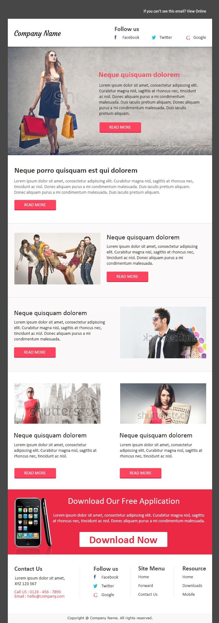 Email Newsletter Examples Business Email Templates Sample With
