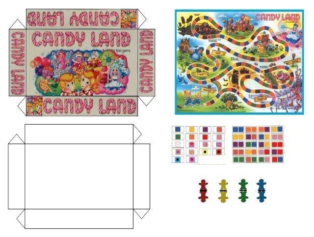 Candy Land printable mini game