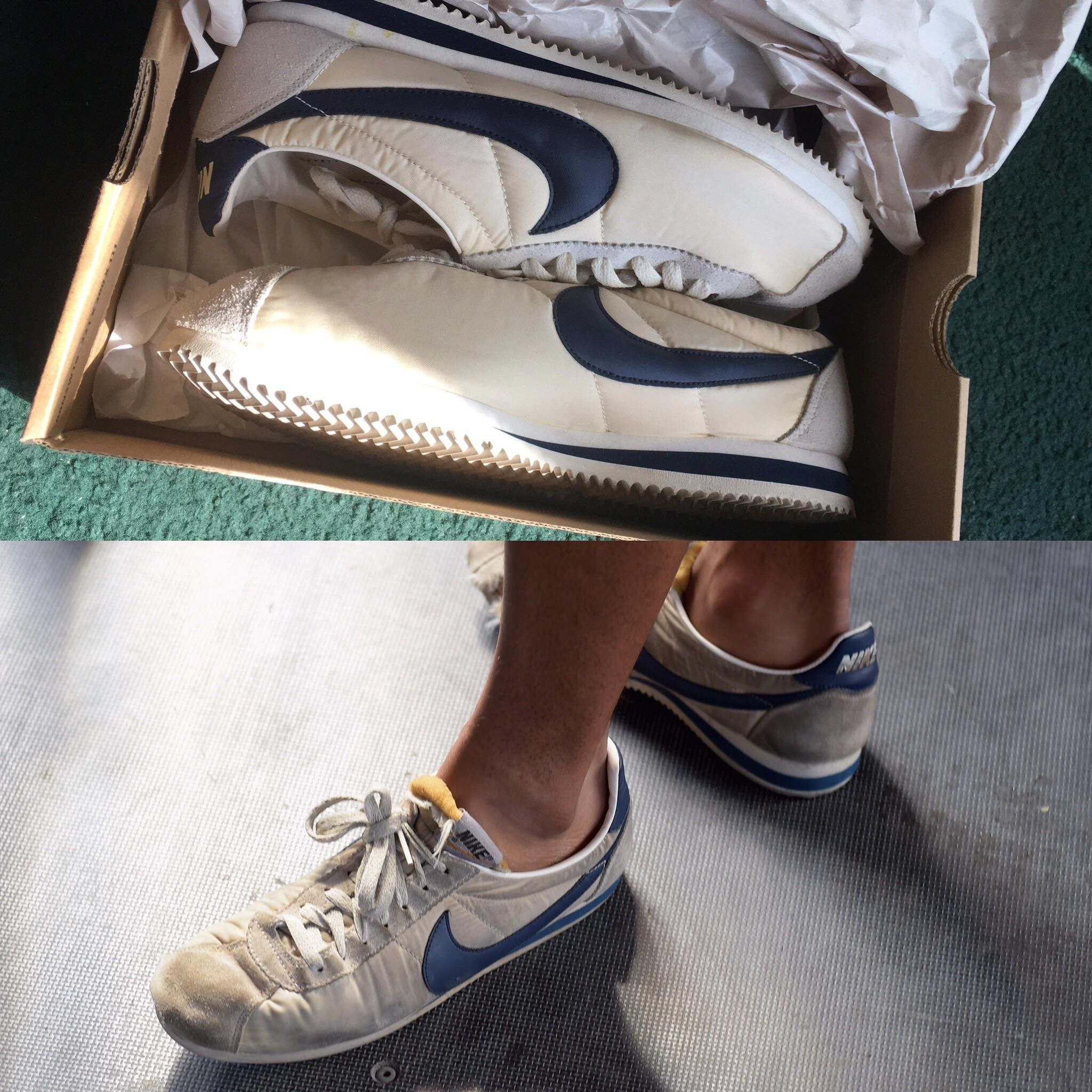 a458aa2583deb I've been hunting for a pair of these sneakers they're the J. Crew Nike  Cortez