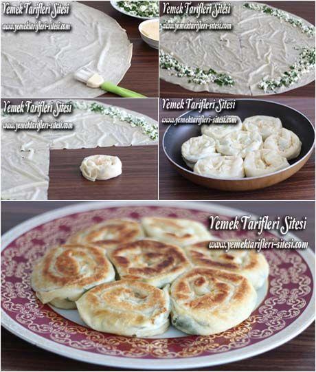 Tavada Peynirli Gül Böreği Tarifi