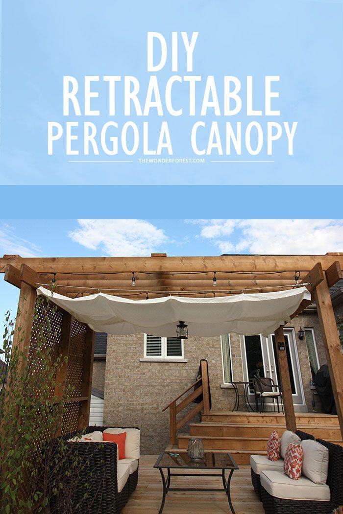 DIY: Retractable Pergola Canopy Tutorial   Wonder Forest