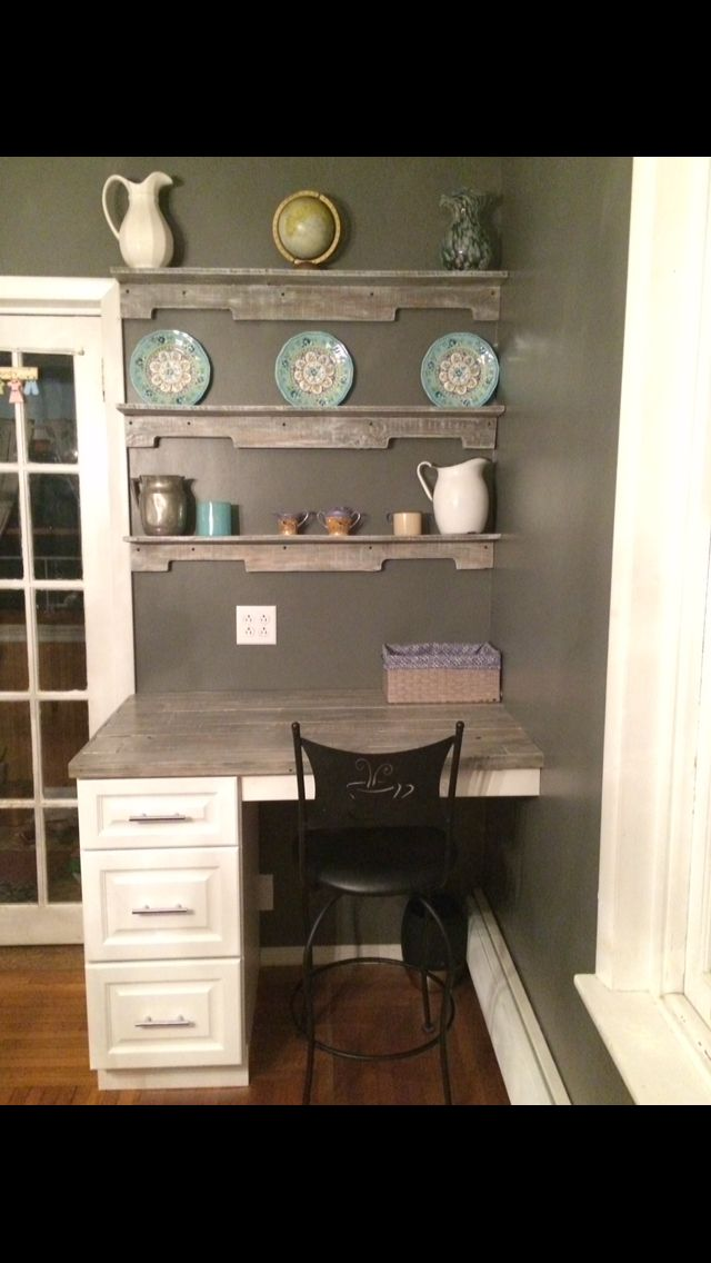 Made A Desk At Counter Height Ed In 2x4s To Frame It Reading Pabase Cabinetscounter