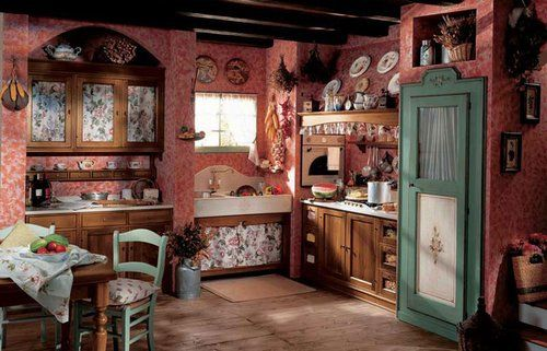 Arredare la cucina in stile country kitchen pinterest for Arredare in stile country