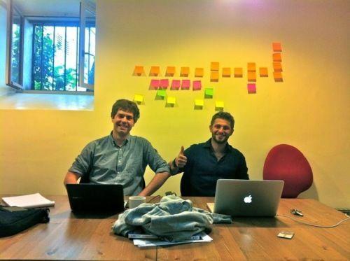 Les hommes derrière le projet (Maxime à gauche - Vincent à droite)