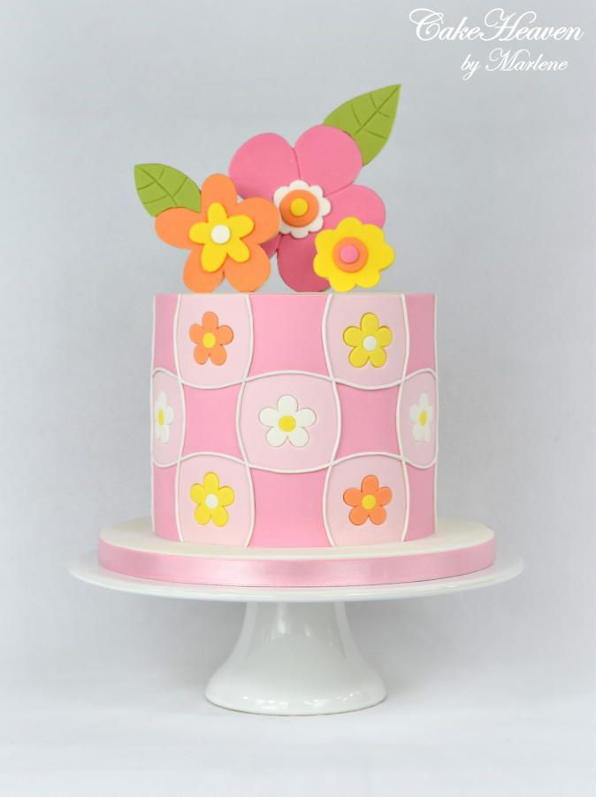 Photo of Spring 60's Retro Style Cake by CakeHeaven by Marlene Le vog