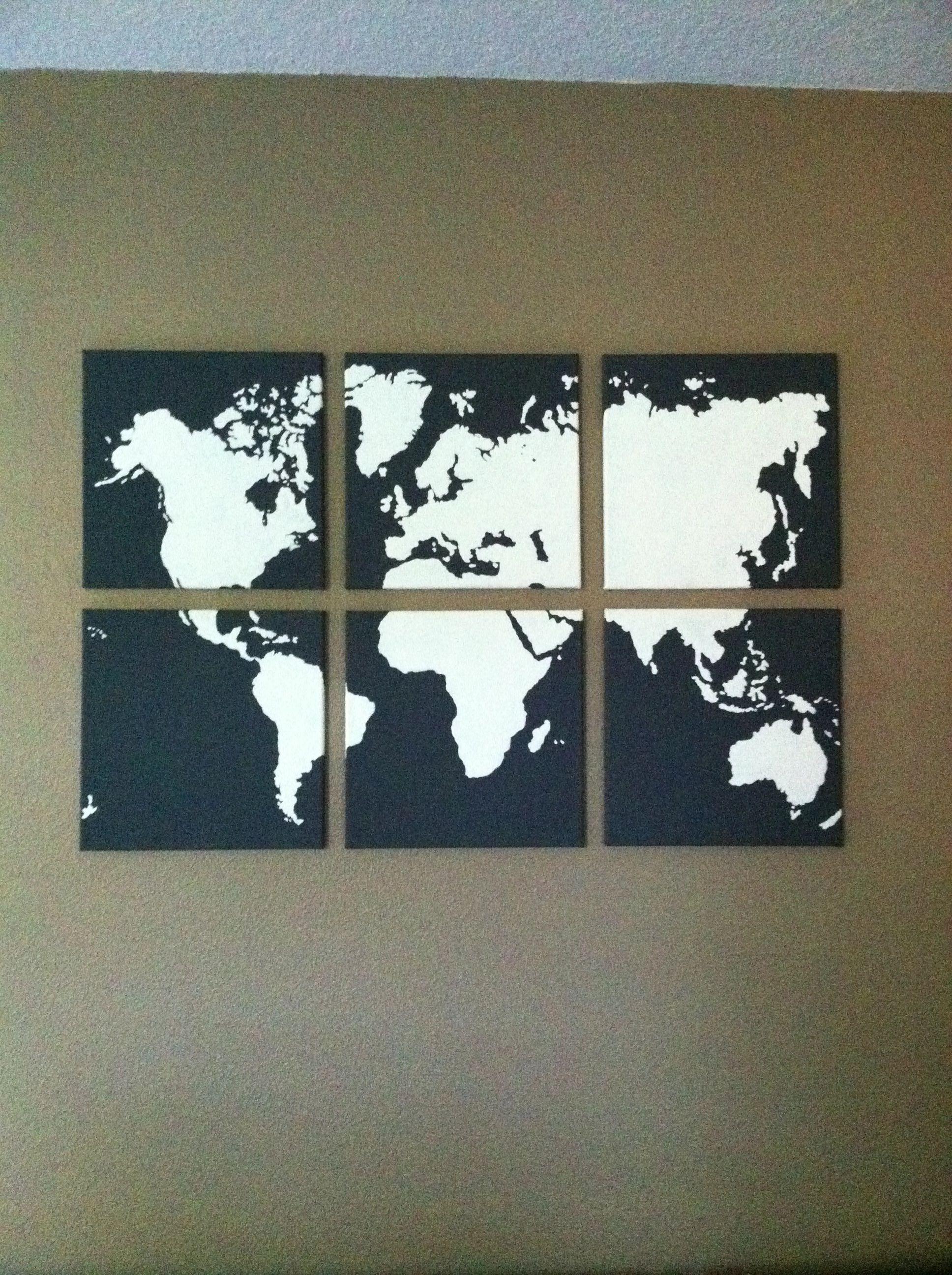 World map multi canvas painting pinteres world map multi canvas painting more gumiabroncs Images