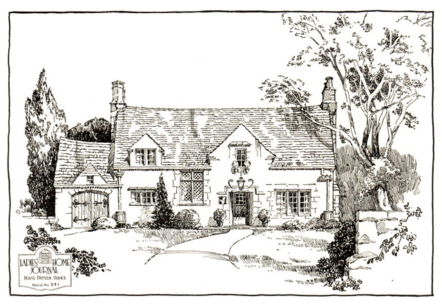 1935 English Cotswold Style Cottage Ladies Home Journal American Residential Architecture Cotswolds Cottage French Cottage Cottage House Plans