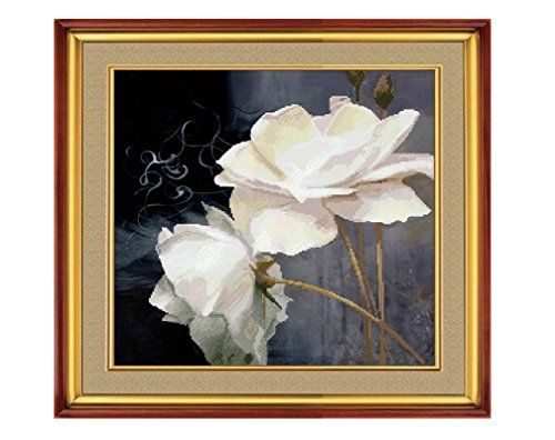 Tofern White Roses Counted Cross Stitch Kits for Home Decoration ?Cotton Threads, 50X50cm) Tofern http://www.amazon.co.uk/dp/B018XOE8Z2/ref=cm_sw_r_pi_dp_6NuAwb0KTQBHW