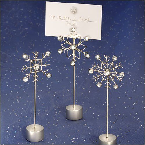 Placecard Holders SnowFlake Design (30 per order) Wedding Favors by AWeddingFavor, http://www.amazon.com/gp/product/B001F97P3K/ref=cm_sw_r_pi_alp_hgbbrb11PS92H
