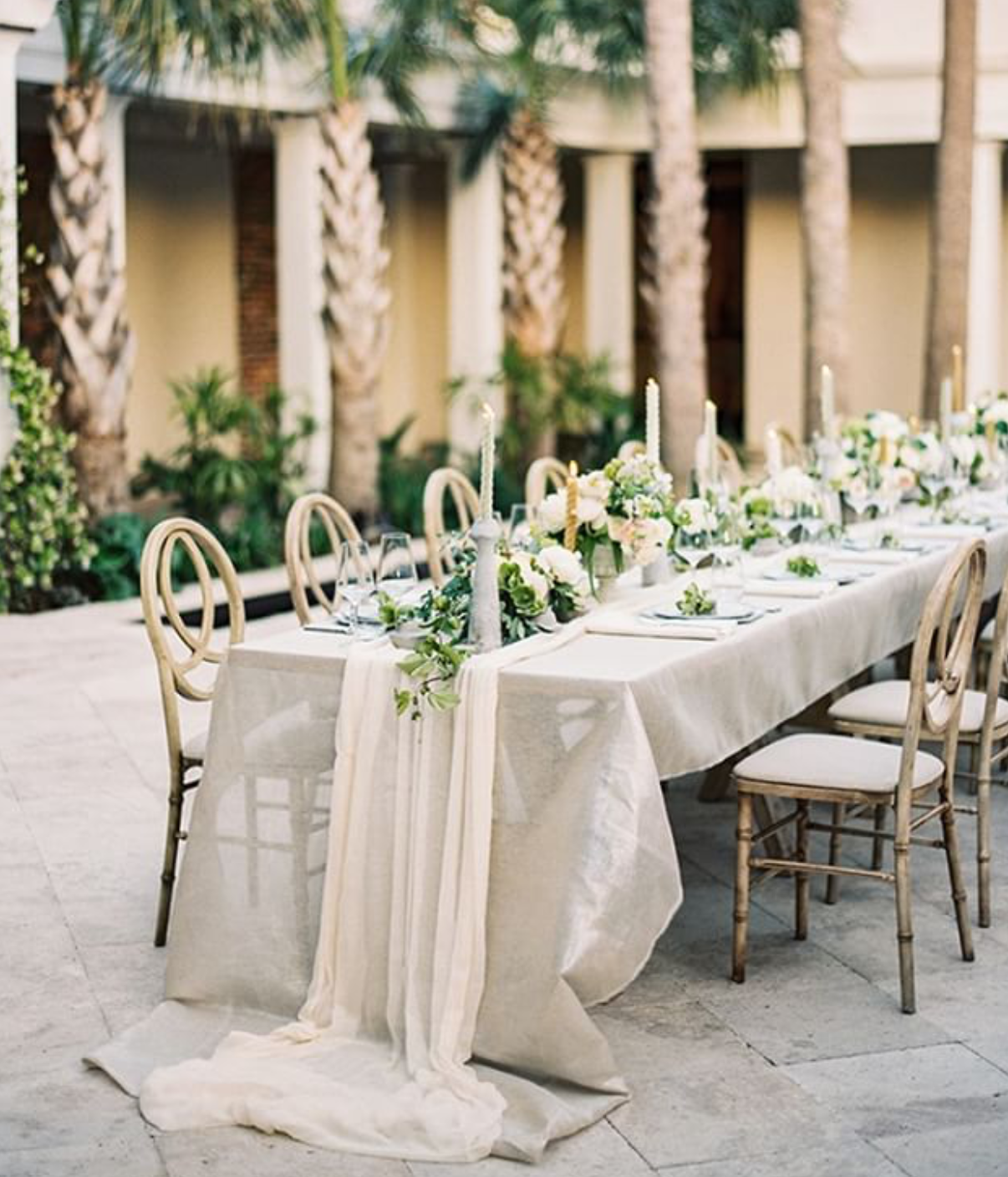 Like The Table Cloth Colors With The Greenery And Slight Hint Of