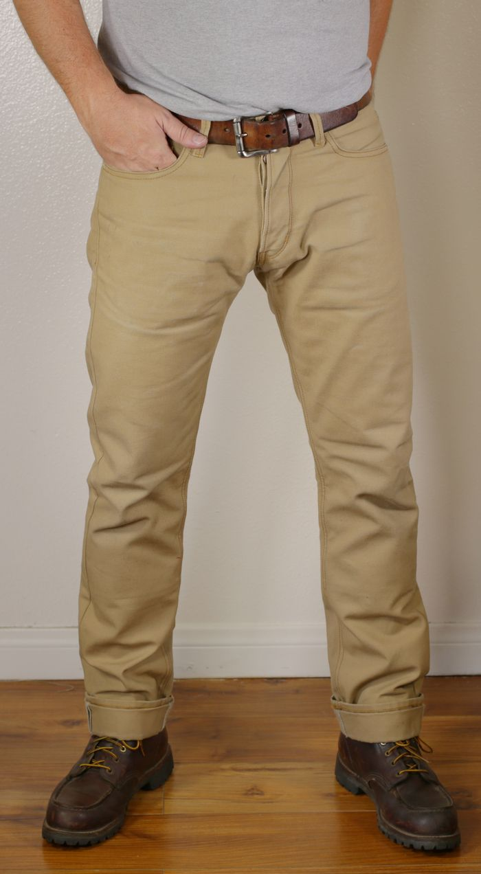 Sand Canvas Riding Jeans Tobacco Motorwear