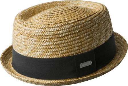 Kangol Wheat Braided Pork Pie Fedora - Laurel S Hats For Men 8fca933efad
