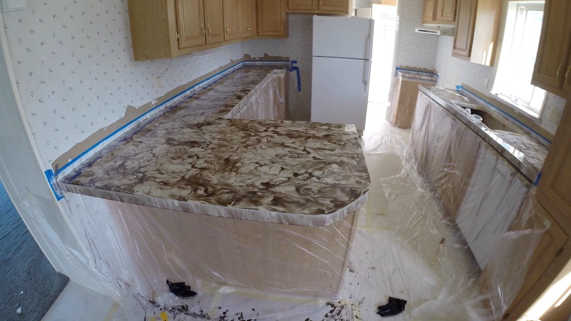 watch old metallic epoxy countertop countertops tile your diy with kits resurface