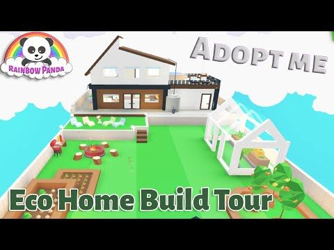 Adopt Me Builds I Eco Home And Garden Glitch Build Youtube Eco House Adoption House Decorating Ideas Apartments