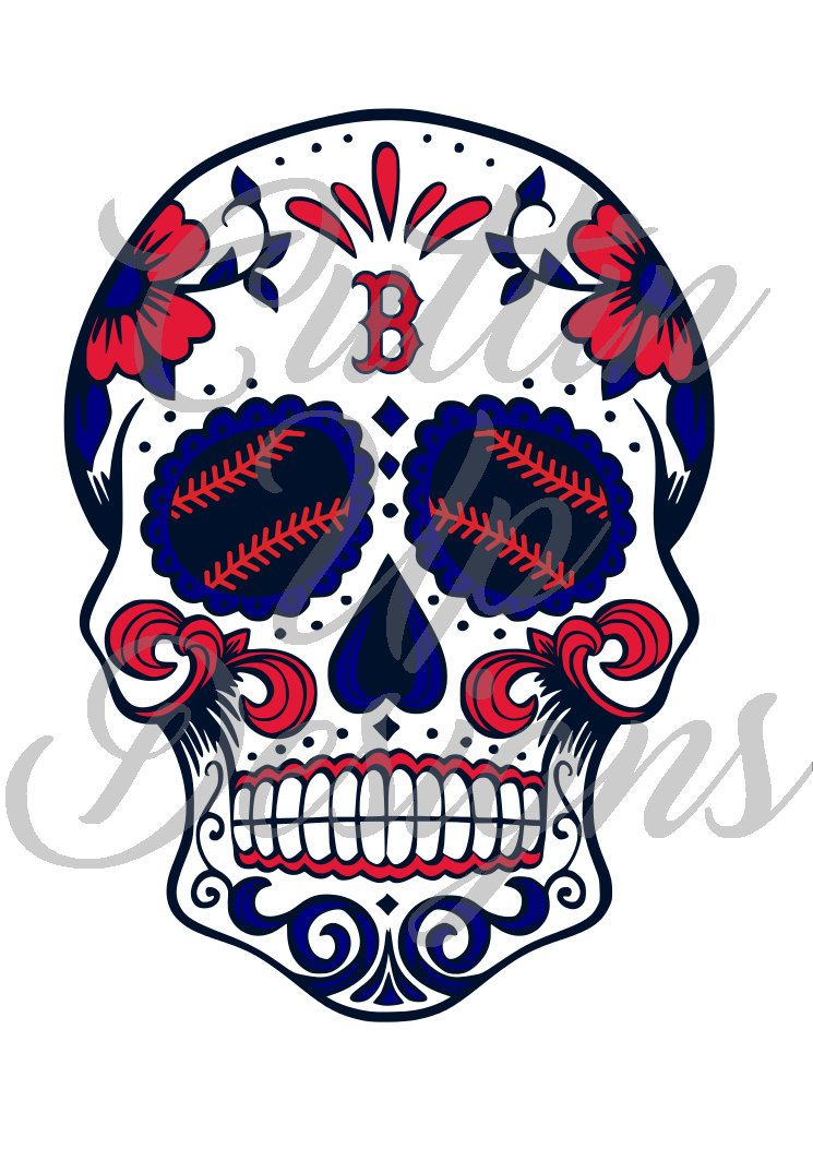 33b6e6032 Boston Red Sox Sugar Skull with Baseball Laces SVG File for Cricut Cameo  (Designer Edition required) Easy Cut Easy layer. Day of the dead by  CuttinUpGifts ...