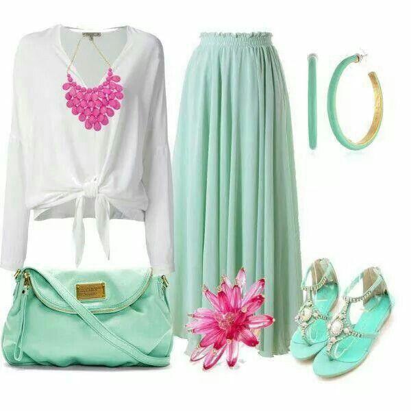 Verde + blanco + fucsia