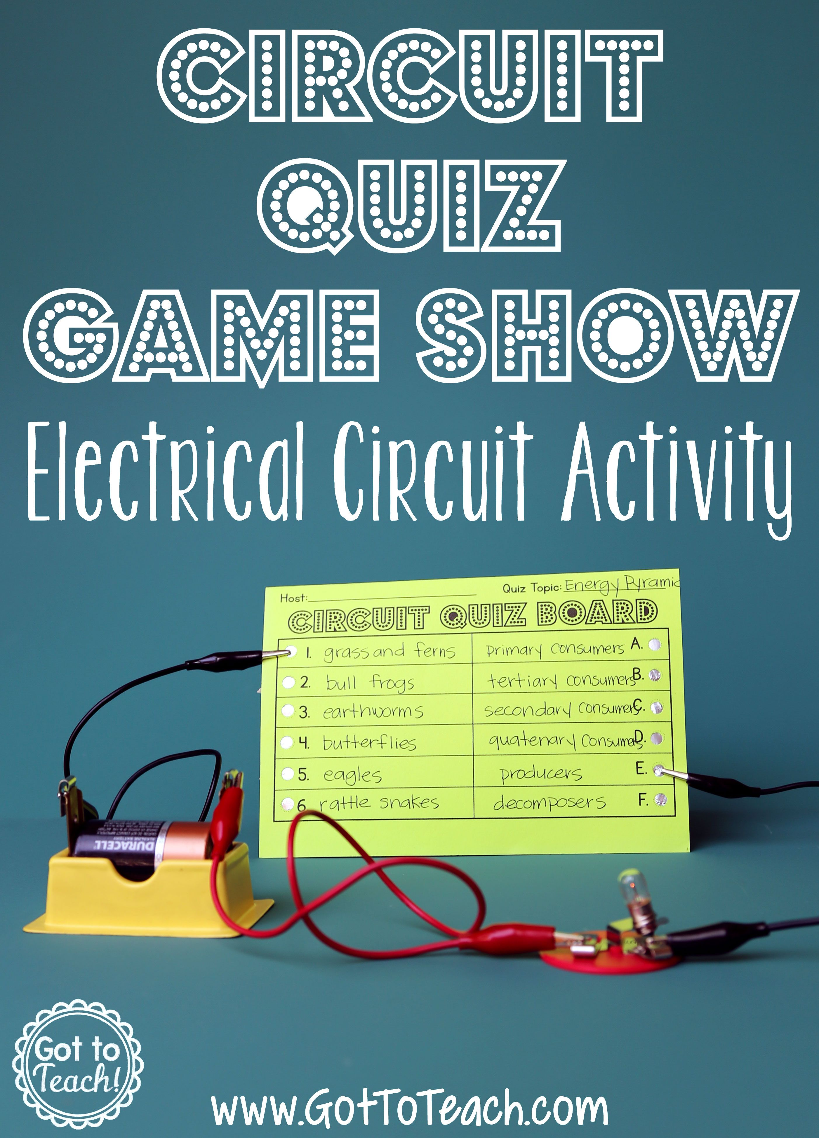 Electrical Circuit Game Show Lesson Quizzes Games Game