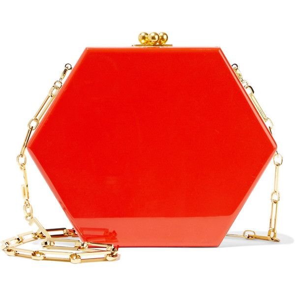 Clearance Comfortable Buy Cheap Outlet Macy Ribbon Acrylic Clutch - Red Edie Parker Supply Cheap Online Wide Range Of Cheap Price kEvdLCc