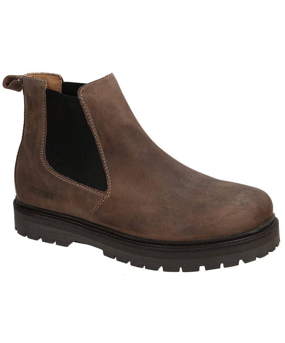 d75965d20d86 Birkenstock Stalon Boot in Taupe Nubuck. Women's Chelsea Boot. Lug Sole.  Removable Cork