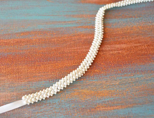 Bridal Belt, Thin Sash Belt, Wedding Dress Belt, Skinny Pearl Bridal Belt, Bridal Sash Belt, Belt for Wedding Dress, Wedding Accessories