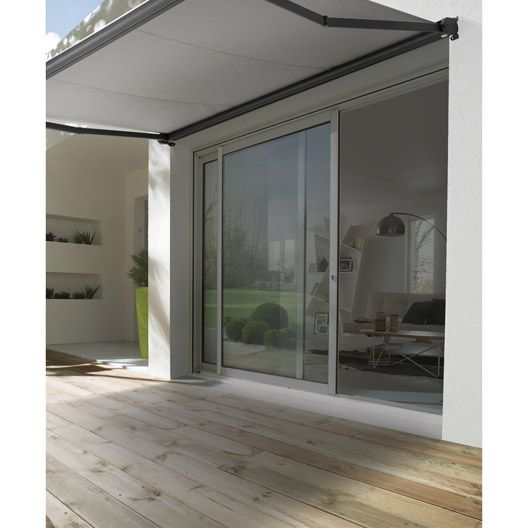 store banne motoris city coffre int gral aluminium 3 x 2m jardin terrasse et magasin. Black Bedroom Furniture Sets. Home Design Ideas