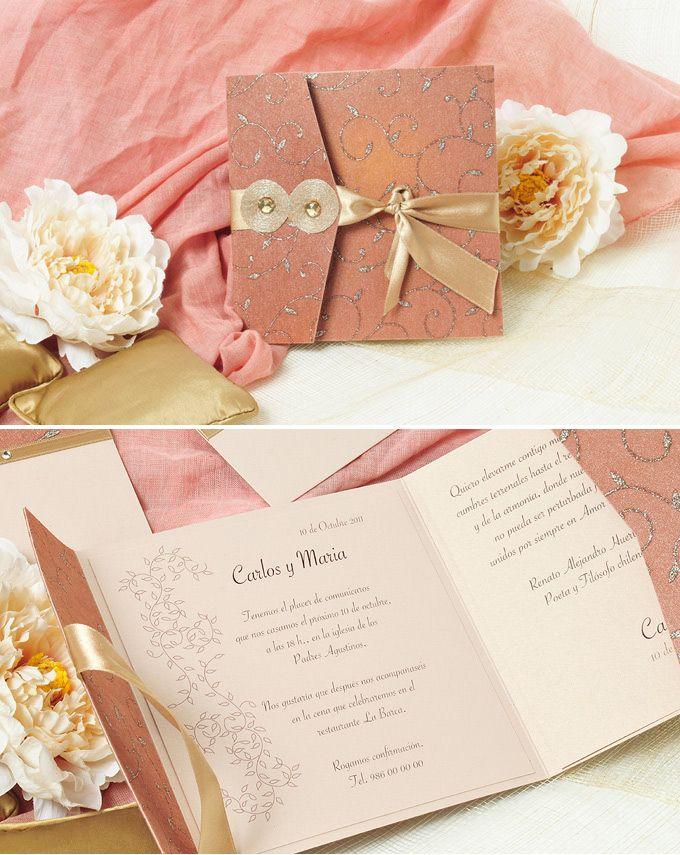 de boda elegantes y de aires exticos en tonos rosados