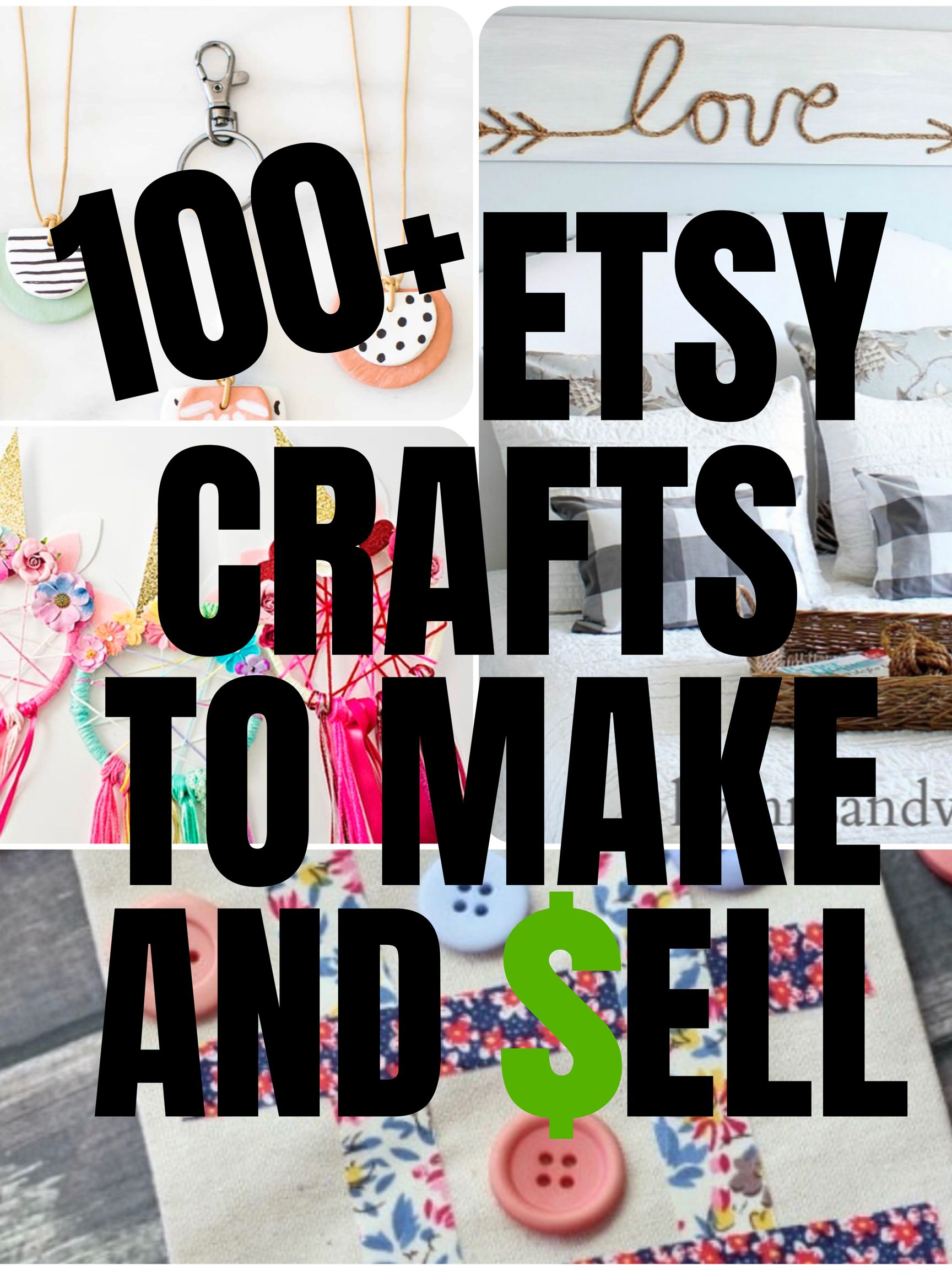 100+ Crafts To Make And Sell In Your Etsy Shop - #craftstomakeandsell