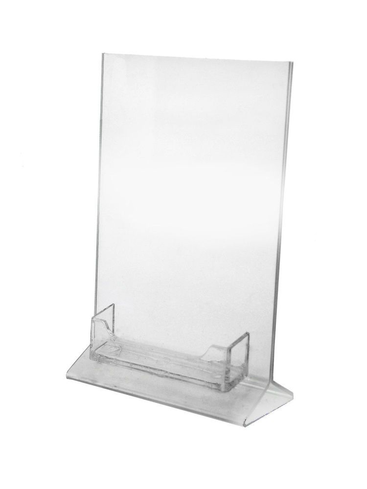 Lot Of Clear Acrylic X Top Load Table Tent With Business - Acrylic table tents