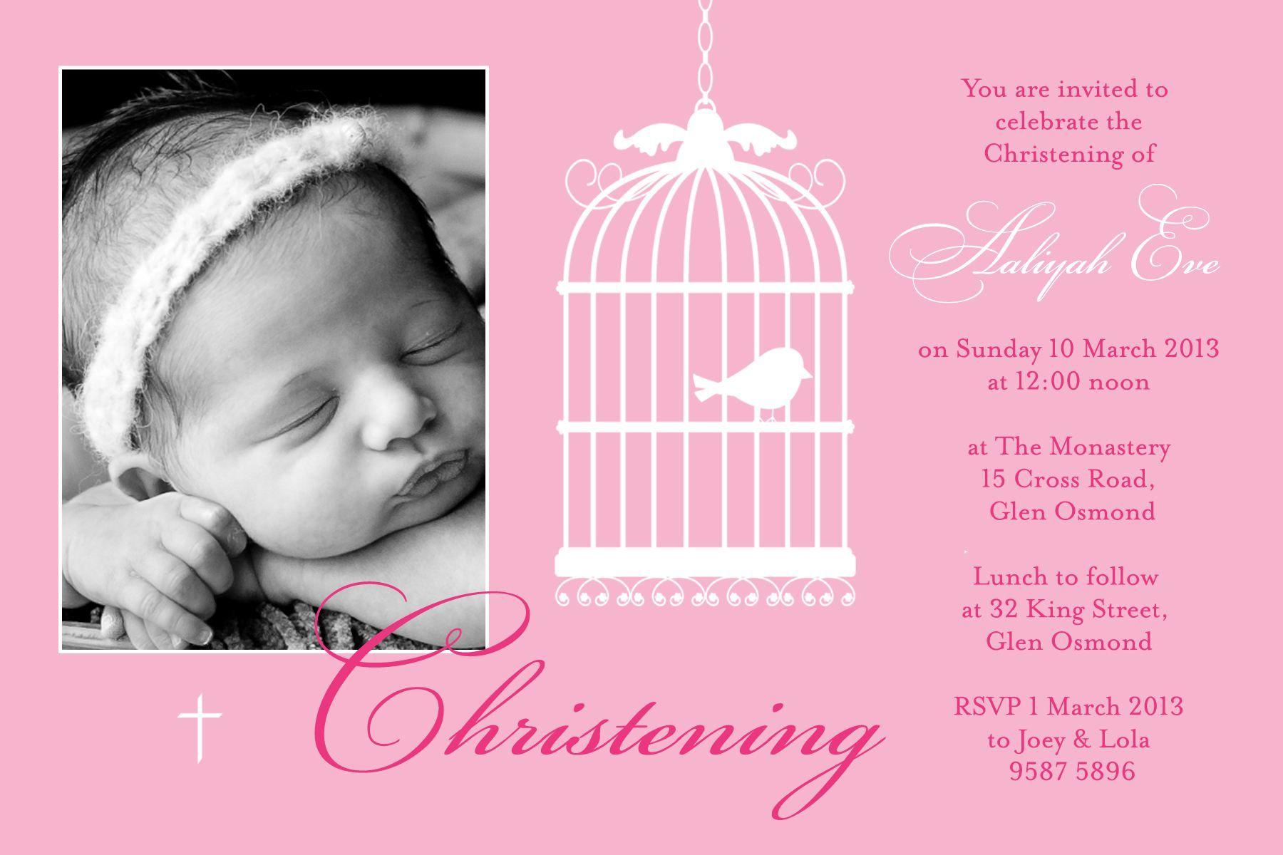 Invitations For Baptism For Girl Baptism Invitations Pinterest