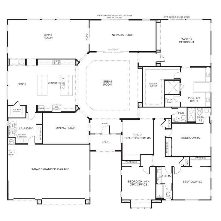 ranch house plans large. My favorite house plan  I would make bedroom 4 the laundry and room