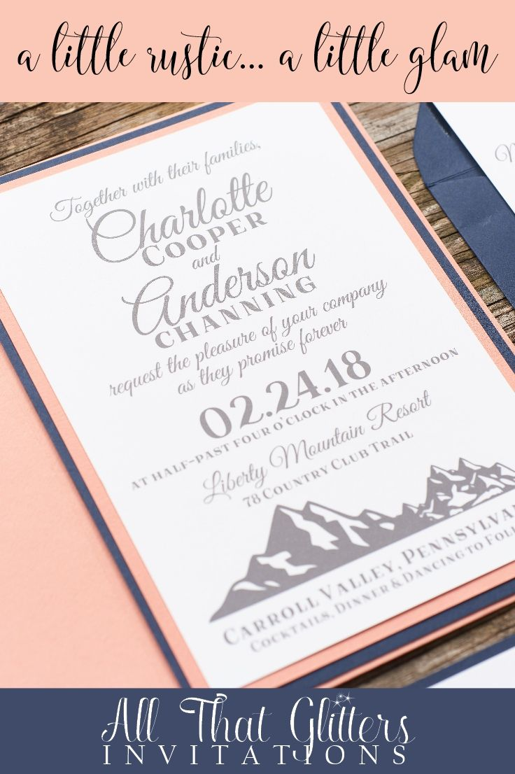 the range wedding invitations | Wedding
