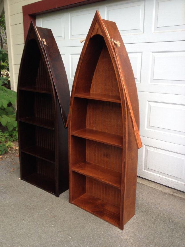Large Canoe Shelf With Oars