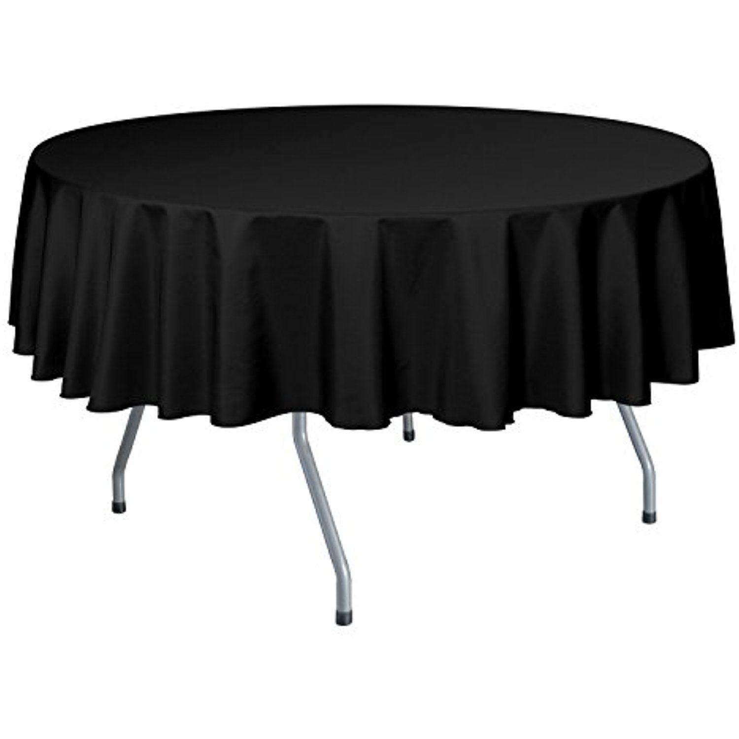 Ultimate Textile (10 Pack) 72 Inch Round Polyester Linen Tablecloth