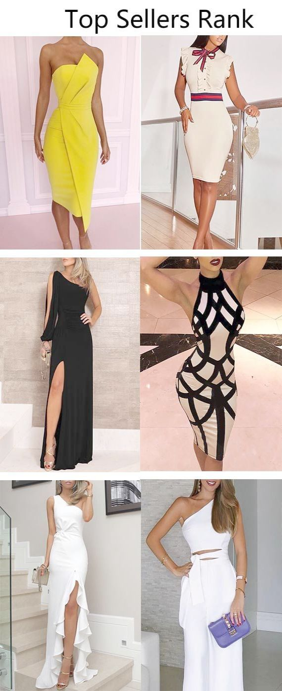 Fitted long dress with split bodycon dress knee length tight