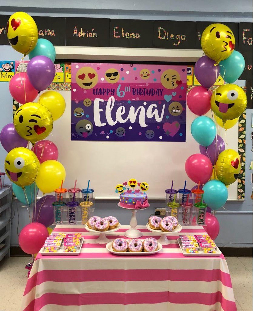 Elena S 6th Birthday Emoji Birthday Party Girls Emoji Birthday Party Barbie Birthday Party
