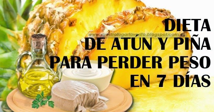 dieta+de+atun+y+piña+para+adelgazar