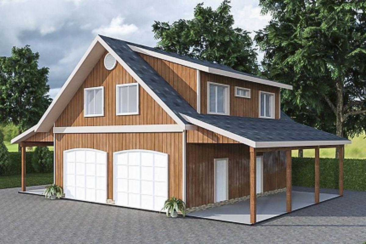 Plan 35443gh Garage Apartment With Art Studio In 2020 Garage Apartment Plans Garage Apartments Barn Apartment