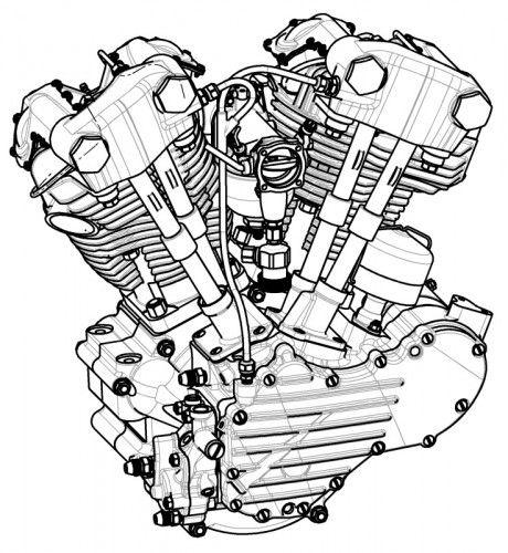 O Motor V Twin De 820cc Foi O Primeiro A Ser Produzido Em Srie Pela