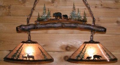 Deer Bear Mica Metal Island Light Plug In Pendant Light Island Lighting Metal Island