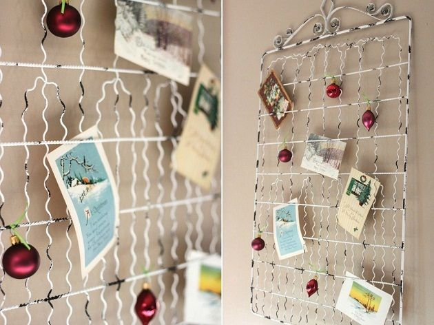 christmas card display ideas the holidays and gift ideas christmas card display christmas. Black Bedroom Furniture Sets. Home Design Ideas