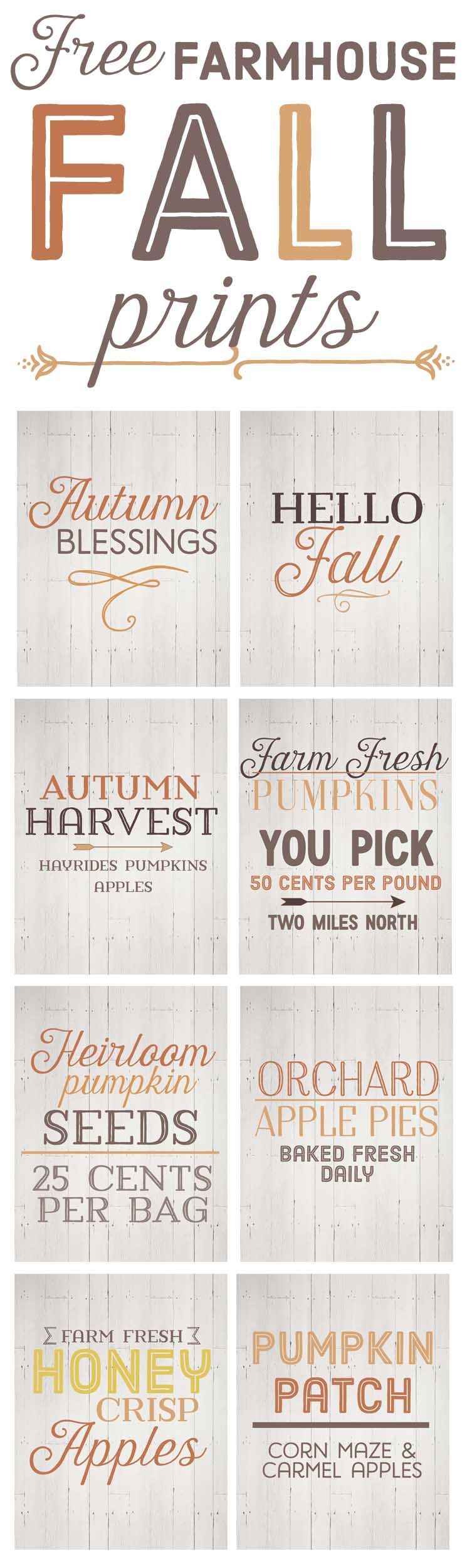 free fall farmhouse printables fall decor thanksgiving and holidays