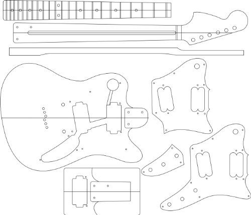 Electric Guitar Layout Template HSONIC ** Find out more about the ...